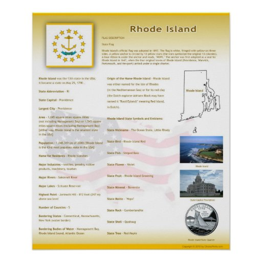 State of Rhode Island,RI Posters