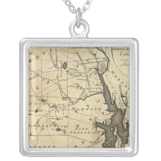 State of Rhode Island Square Pendant Necklace