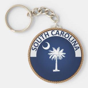 State of South Carolina Flag Seal Keychain