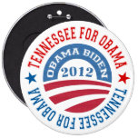 State Of Tennessee For Obama-Obama Biden 2012 Pinback Buttons