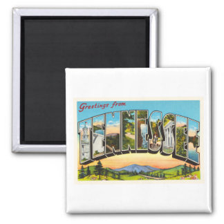 State of Tennessee TN Old Vintage Travel Souvenir 2 Inch Square Magnet