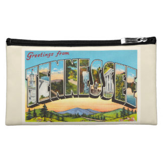 State of Tennessee TN Old Vintage Travel Souvenir Makeup Bag