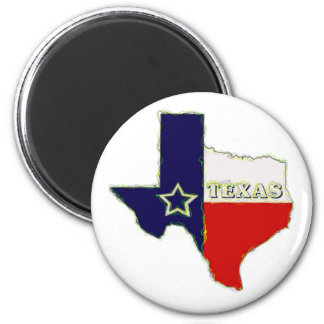 STATE OF TEXAS 2 INCH ROUND MAGNET