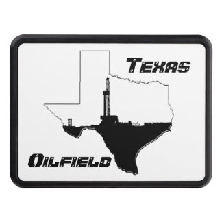 State of Texas and Oil Drilling Rig Tow Hitch Cover