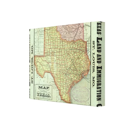 State of Texas Canvas Print
