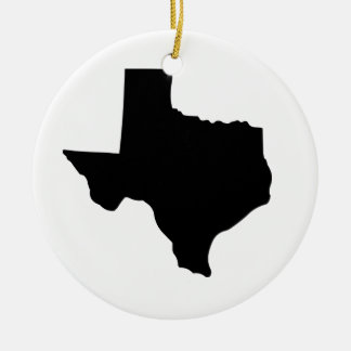 State of Texas Ceramic Ornament