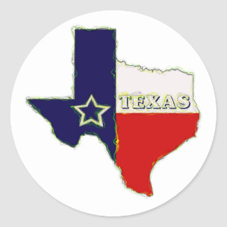 STATE OF TEXAS CLASSIC ROUND STICKER
