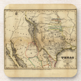State of Texas Map (1846) Coaster