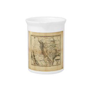 State of Texas Map (1846) Drink Pitcher