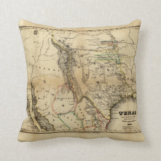 State of Texas Map (1846) Throw Pillow