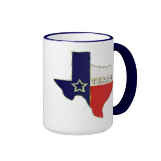 STATE OF TEXAS RINGER COFFEE MUG