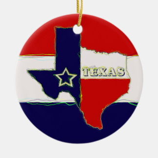 STATE OF TEXAS CHRISTMAS TREE ORNAMENT