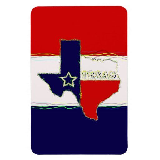 STATE OF TEXAS RECTANGLE MAGNETS
