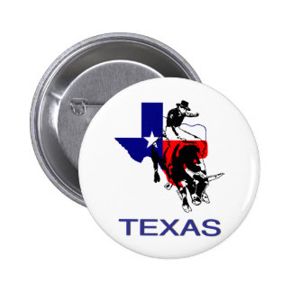 State of Texas Rodeo Bull Rider 2 Inch Round Button