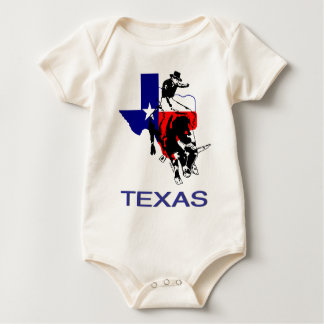State of Texas Rodeo Bull Rider Baby Bodysuits