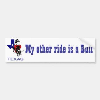 State of Texas Rodeo Bull Rider Bumper Sticker