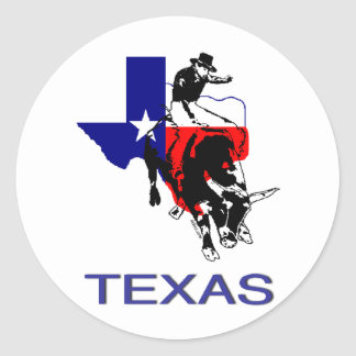 State of Texas Rodeo Bull Rider Classic Round Sticker