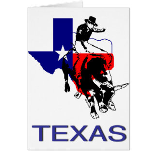 State of Texas Rodeo Bull Rider Greeting Card