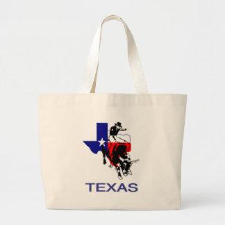 State of Texas Rodeo Bull Rider Jumbo Tote Bag