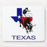 State of Texas Rodeo Bull Rider Mouse Pad