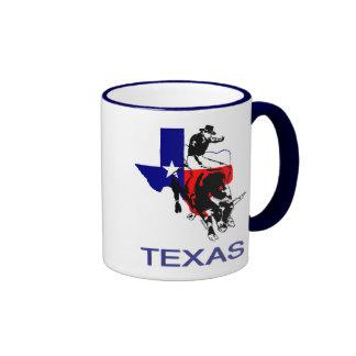 State of Texas Rodeo Bull Rider Ringer Coffee Mug