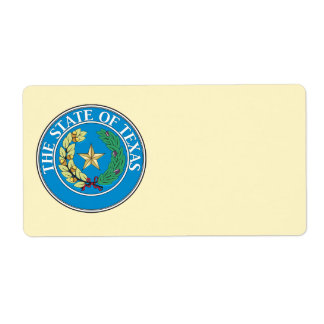 State of Texas seal Label