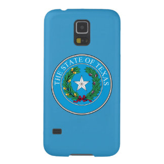 State of Texas Seal-Turquoise Blue Galaxy S5 Case