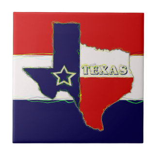 STATE OF TEXAS SMALL SQUARE TILE
