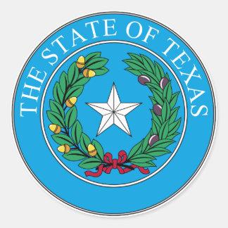 State of Texas Round Sticker