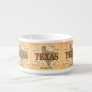 State of Texas Vintage Map, Austin, Houston Bowl
