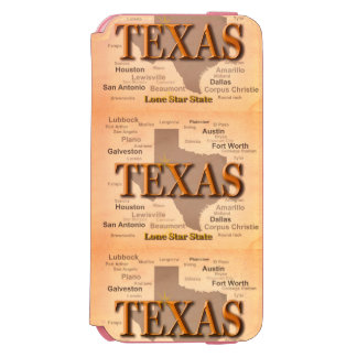 State of Texas Vintage Map, Austin, Houston iPhone 6/6s Wallet Case