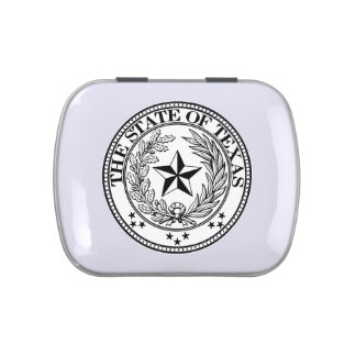 State of Texas White Jelly Belly™ Candy Tin