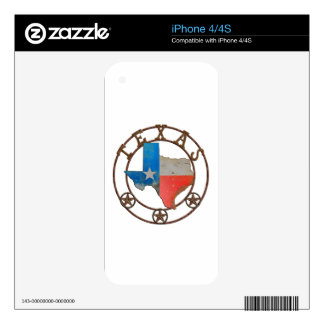 State of Texas Wrought Iron iPhone 4S Skin