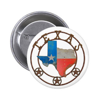 State of Texas Wrought Iron Pinback Button