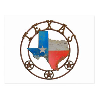 State of Texas Wrought Iron Postcard