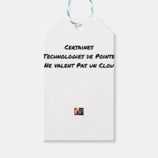 STATE-OF-THE-ART TECHNOLOGIES ARE NOT WORTH A NAIL GIFT TAGS