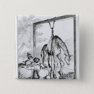 State of the Giraffe, 1829 Pinback Button