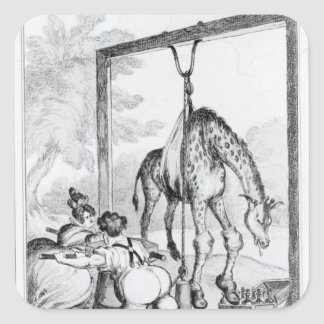State of the Giraffe, 1829 Square Sticker