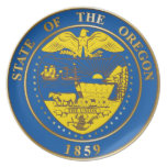 State of the Oregon seal Plates