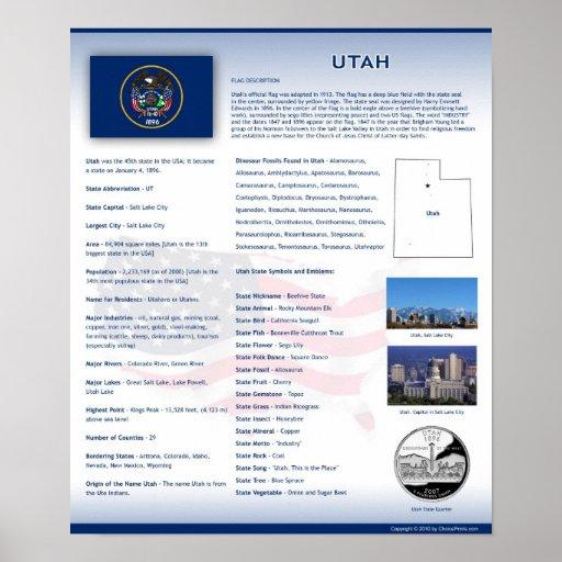 State of Utah, UT Posters