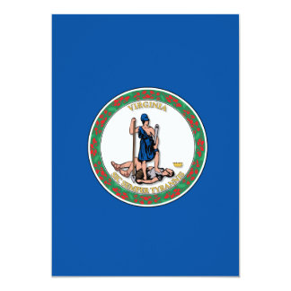 State of Virginia flag Card