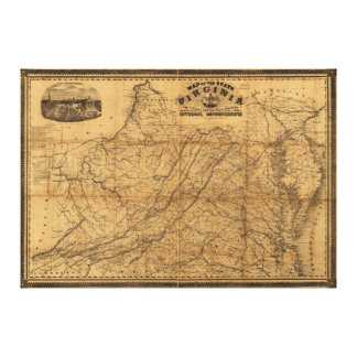 State of Virginia Map by West & Johnson (1862) Canvas Print