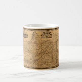 State of Virginia Map by West & Johnson (1862) Coffee Mug