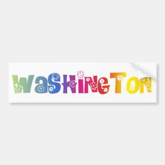 State of Washington ( Not DC) Bumper Sticker