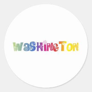 State of Washington ( Not DC) Classic Round Sticker