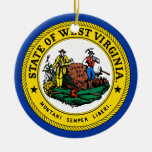 State of West Virginia Holiday Christmas Ornament