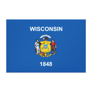 State of Wisconsin flag Canvas Print