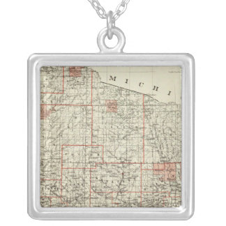 State of Wisconsin Silver Plated Necklace