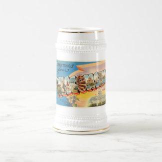 State of Wisconsin WI Old Vintage Travel Souvenir Beer Stein