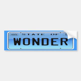 State of  Wonder Car Bumper Sticker